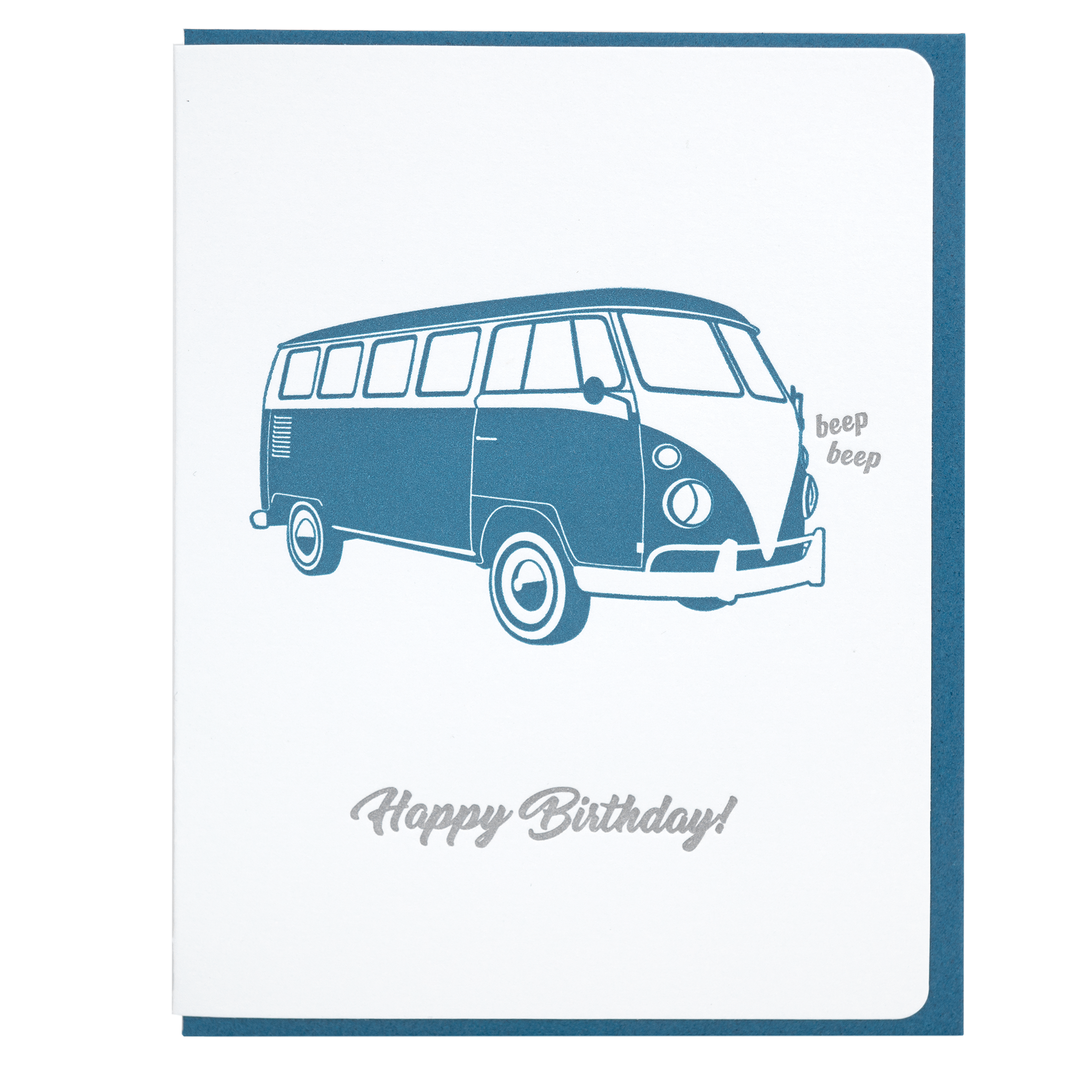 Birthday Card Beep VW Bus