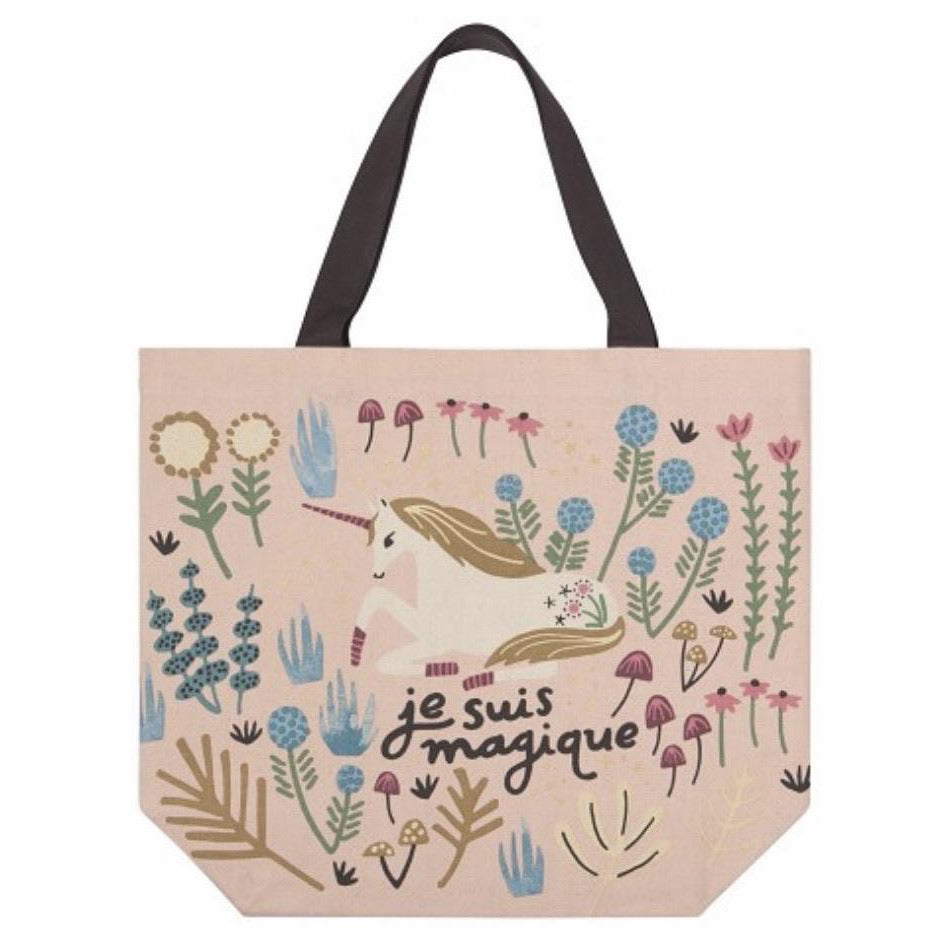 Wide Tote Bag Unicorn