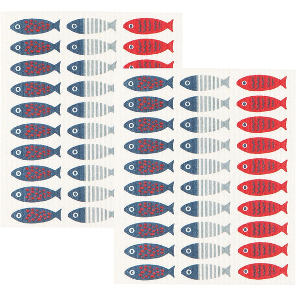 Swedish Dishcloth Little Fish -Set of 2
