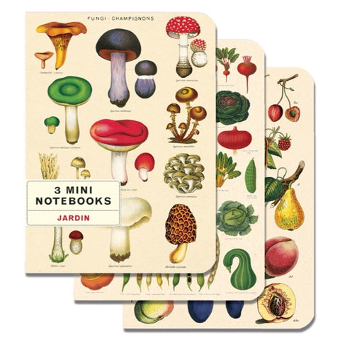 3 Mini Notebooks Le Jardin