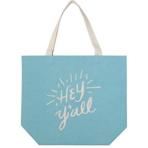 Wide Tote Bag Hey Y'all