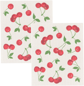 Swedish Dishcloth Cherries -Set of 2