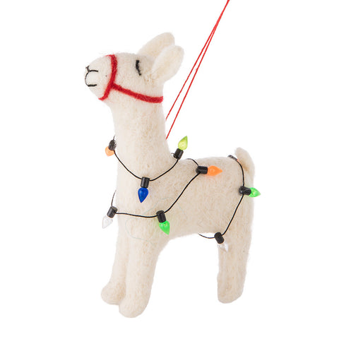 Ornament Llama with Lights