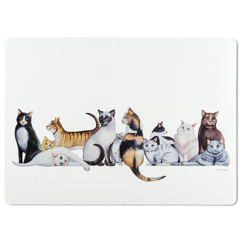 Placemat Cat Row