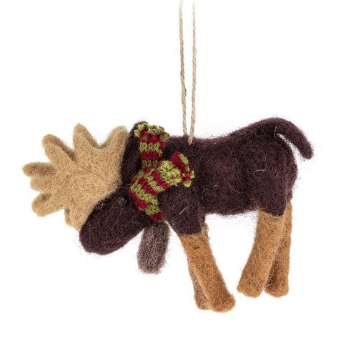 Ornament Moose with Scarf