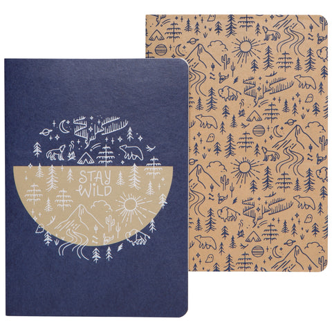 Notebook Stay Wild Set of 2