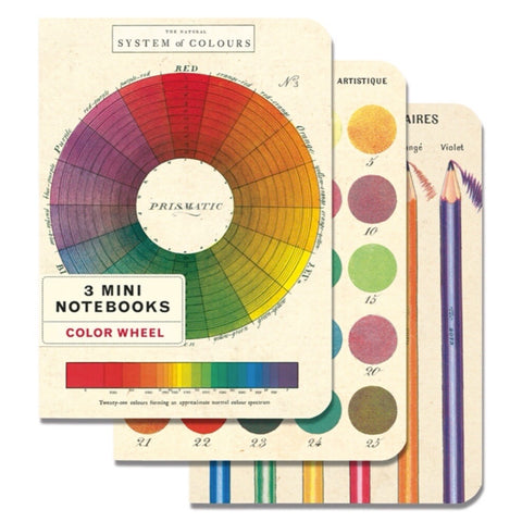 3 Mini Notebooks Colour Wheel