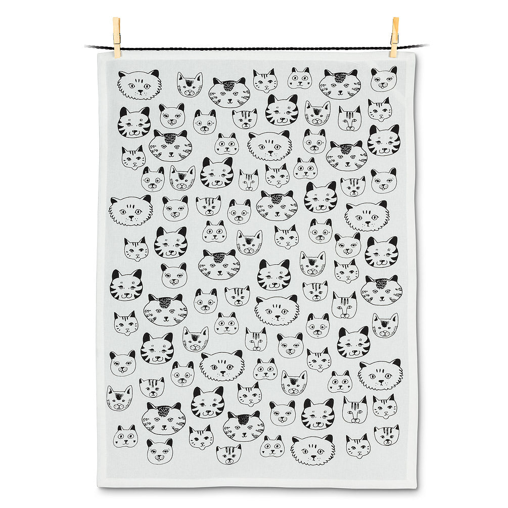 Tea Towel Cat Faces