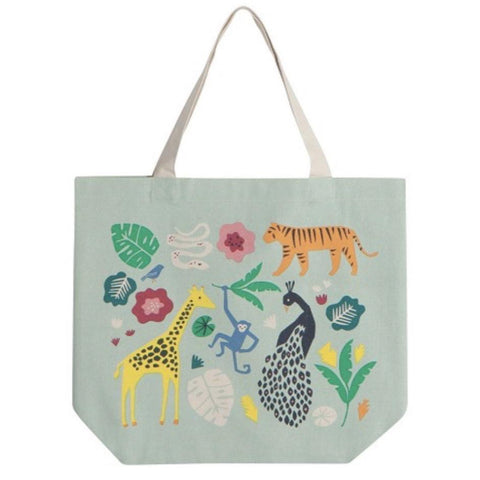 Wide Tote Bag Wild Bunch