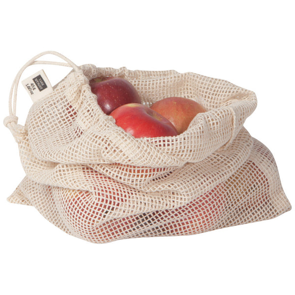 Net Produce Bags Natural -Set of 3