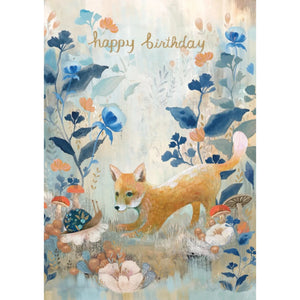 Birthday Card Fox