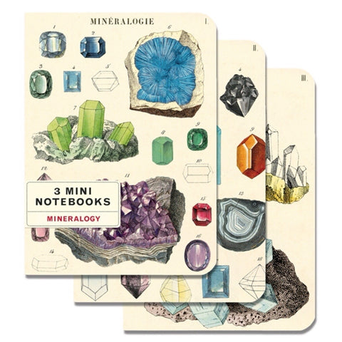 3 Mini Notebooks Mineralogy