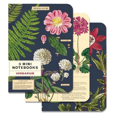 3 Mini Notebooks Herbarium
