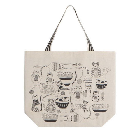 Wide Tote Bag Purr Party