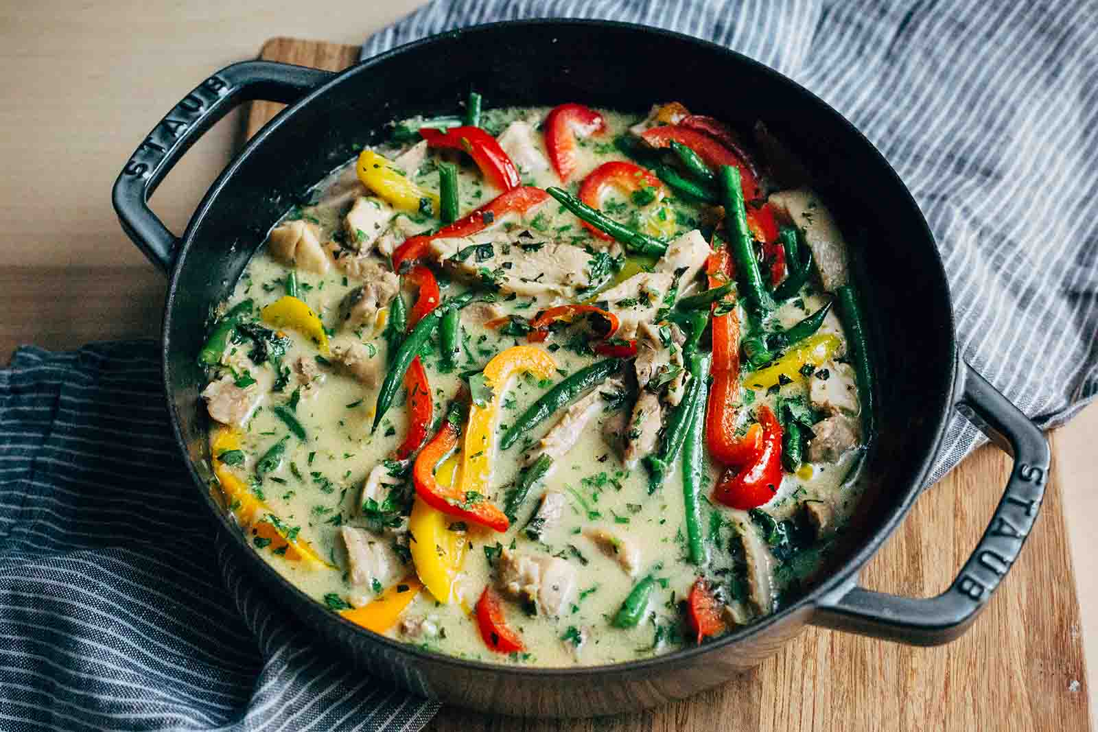 Thai Green Chicken Curry with basmati - 500g