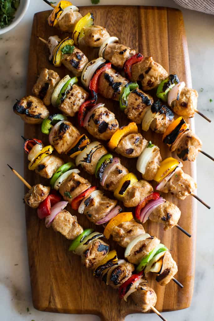 Chicken Skewers x 2 and Any Salad