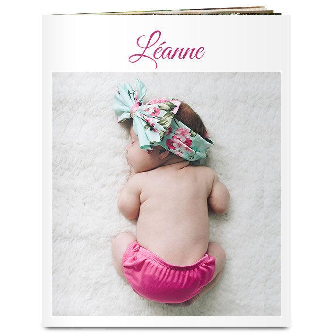 Livre photo couverture souple rectangulaire 8x10