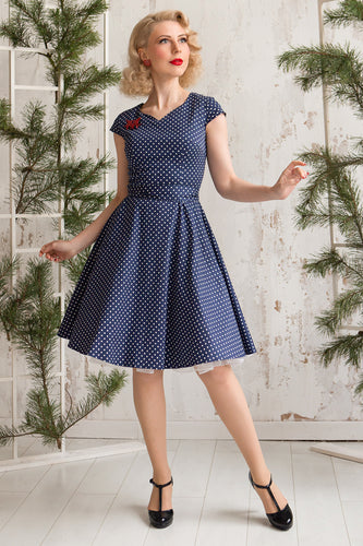 Navy Small Vit Dot