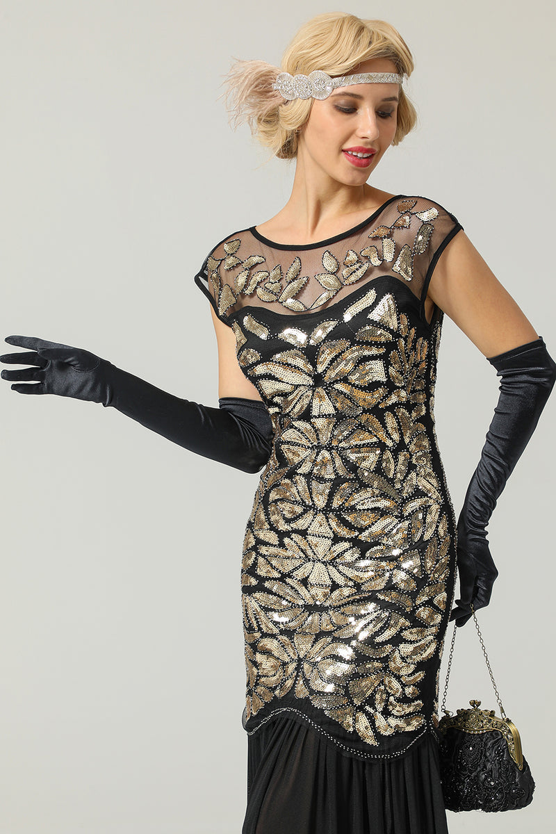 Load image into Gallery viewer, 1920 Tals Sequined Gatsby Klänning