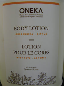 Lotion corps hydraste et agrumes