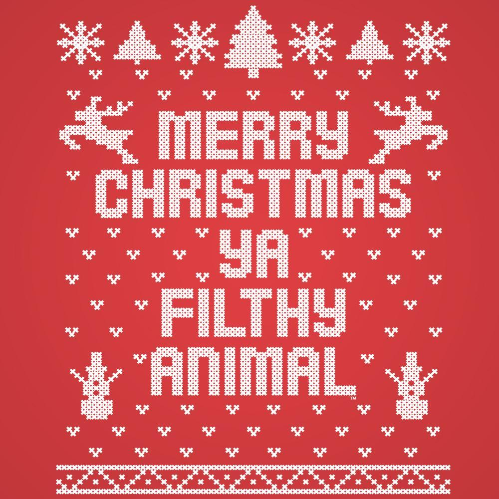 Merry Christmas Ya Filthy Animal.Merry Christmas Ya Filthy Animal Ugly T Shirt