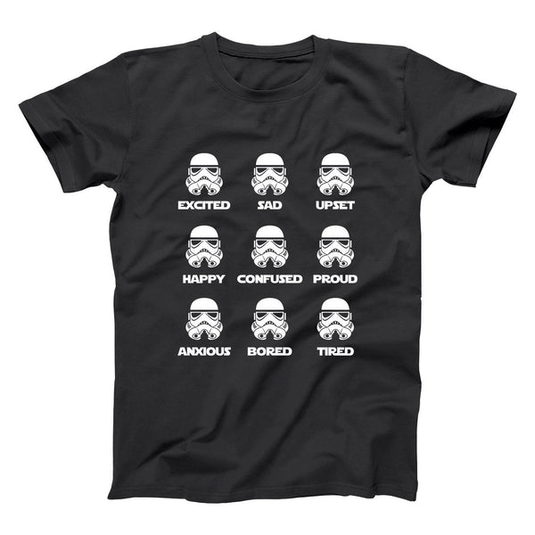 Storm Trooper Emotions Men's T-Shirt - Donkey Tees