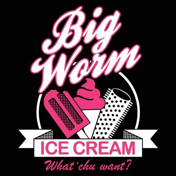 Big Worm Ice Cream - DonkeyTees