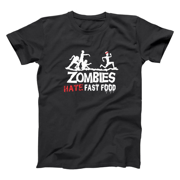 Zombies Hate Fast Food Men's T-Shirt - Donkey Tees