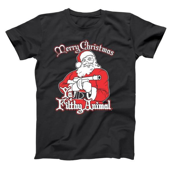Santa Ya Filthy Animal Merry Christmas Men's T-Shirt