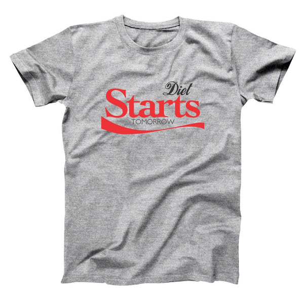 Diet Starts Tomorrow Men's T-Shirt - Donkey Tees