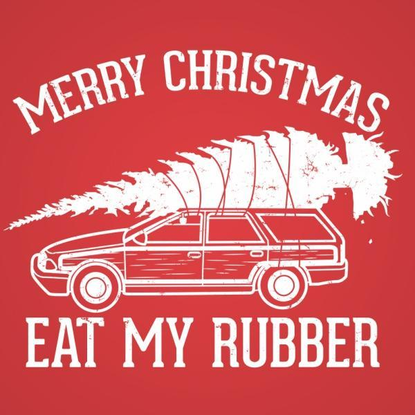 Eat My Rubber Merry Christmas - DonkeyTees