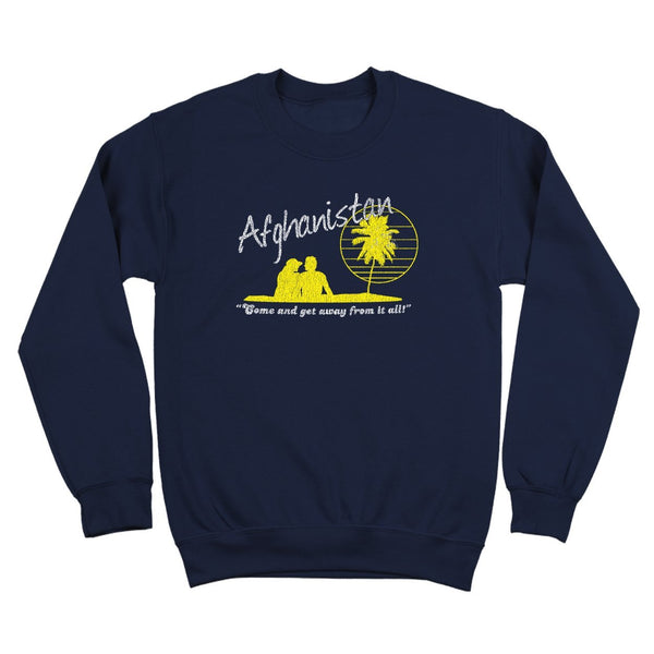 Afghanistan Vacation Crewneck Sweatshirt - DonkeyTees