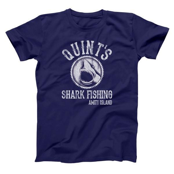 Quints Shark Fishing Men's T-Shirt - Donkey Tees