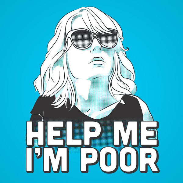 Help Me I'm Poor Men's T-Shirt - DonkeyTees