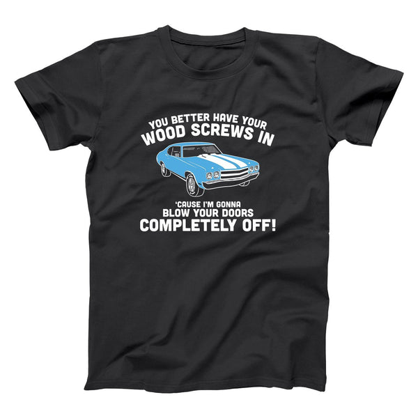 Wood Screws Blow Your Doors Off Men's T-Shirt - Donkey Tees