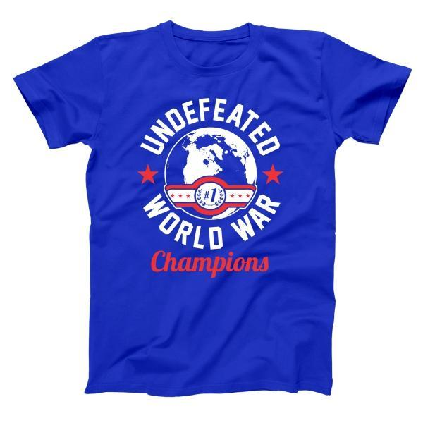 Undefeated World War Champions Men's T-Shirt - Donkey Tees