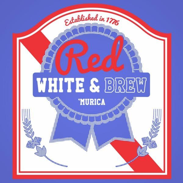 Red White And Brew - DonkeyTees