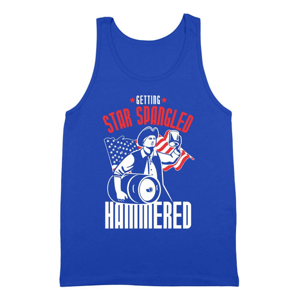 Star Spangled Hammered Usa Tank Top - Donkey Tees