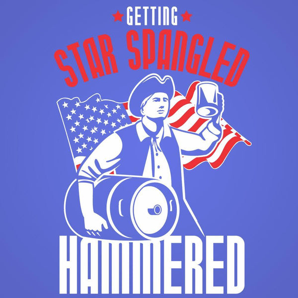 Star Spangled Hammered Usa Men's T-Shirt - Donkey Tees