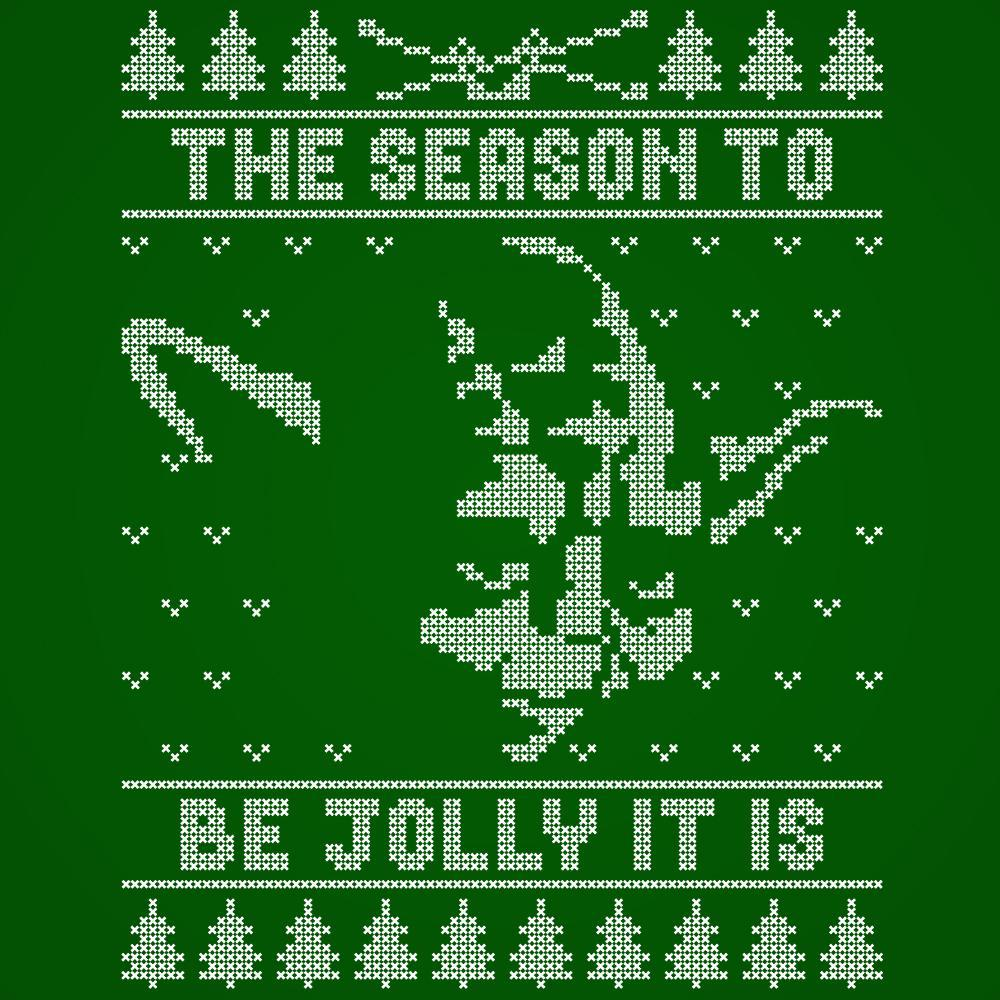 Jolly Yoda Ugly Christmas Sweater - DonkeyTees