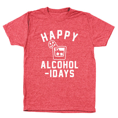 Happy Alcoholidays White - DonkeyTees