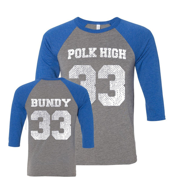 Polk High Al Bundy Jersey Unisex Raglan - Donkey Tees