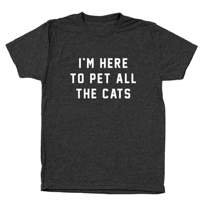 I'm Here To Pet All The Cats - DonkeyTees