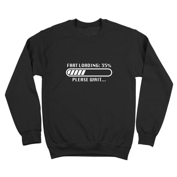 Fart Loading File Crewneck Sweatshirt - Donkey Tees