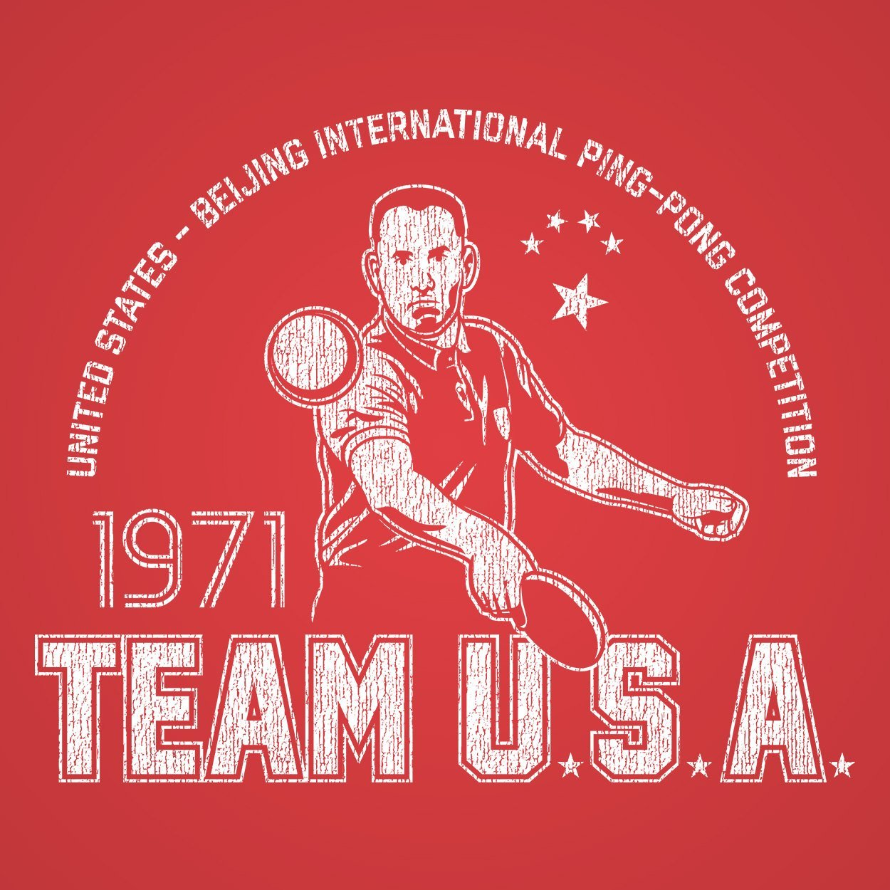Gump Ping Pong Team Usa - DonkeyTees