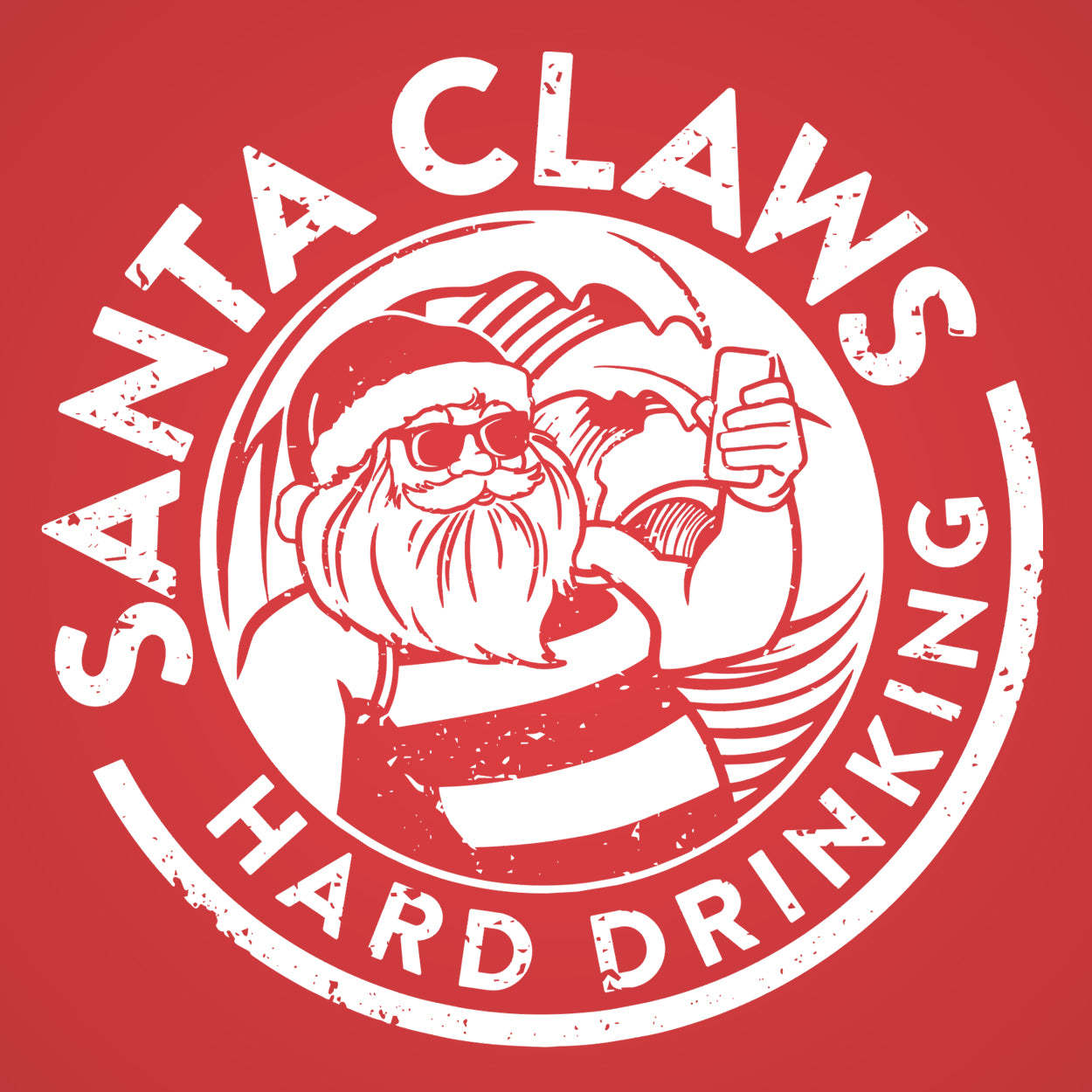 Santa Claws White - DonkeyTees