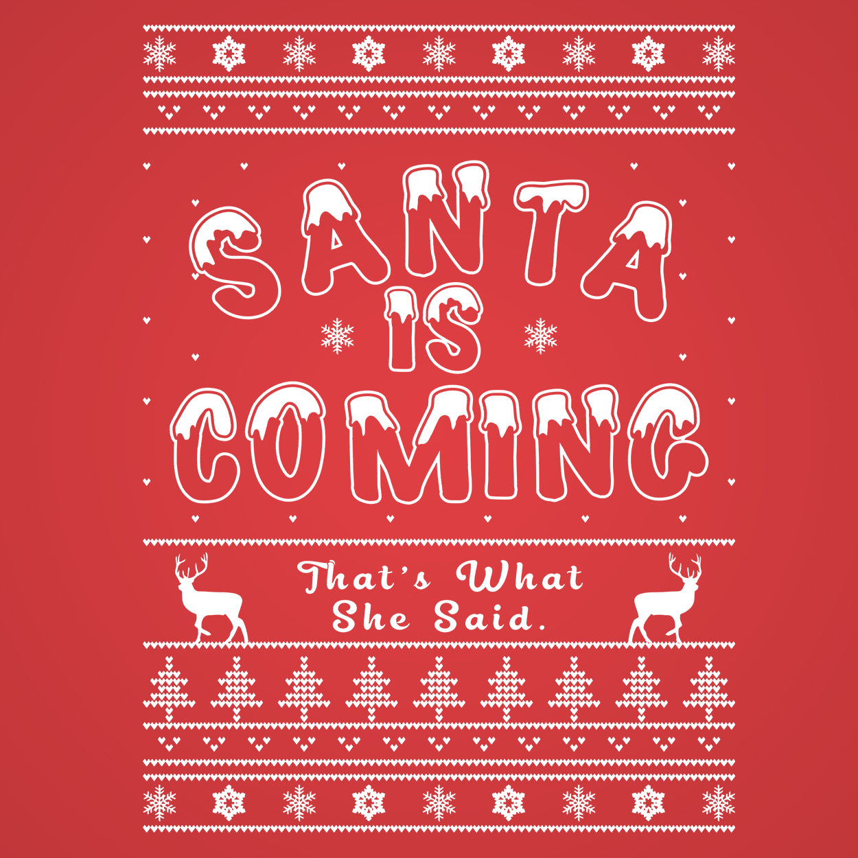 Santa Is Coming Thats What She Said - DonkeyTees