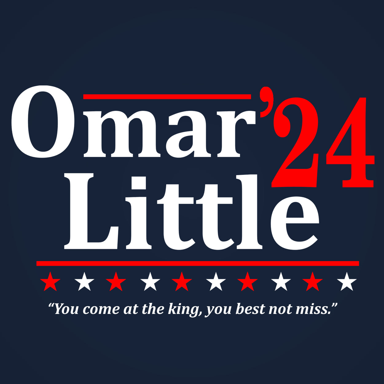 Omar Little 2020 Election - DonkeyTees