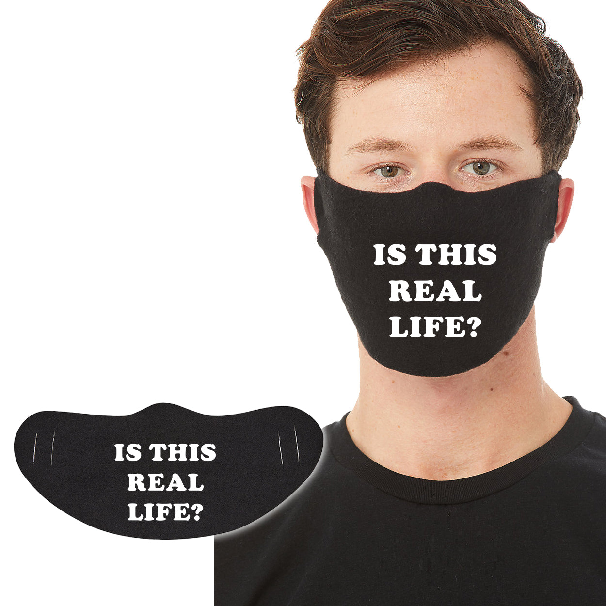 Cotton Face Mask 1P - Is This Real Life? - DonkeyTees