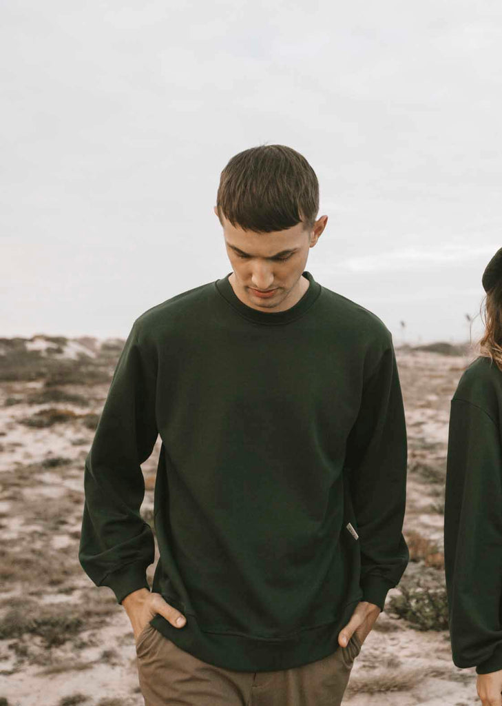 Boom sweater men Forest Green - Muta studio